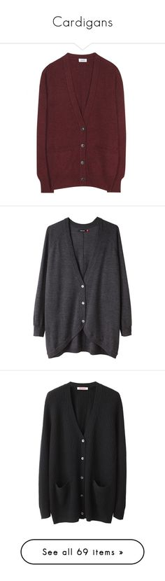 """""""Cardigans"""" by jellytime ❤ liked on Polyvore featuring tops, cardigans, outerwear, sweaters, deep red, v neck tops, v-neck cardigan, cashmere v neck cardigan, cardigan top and cashmere cardigan"""