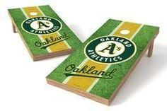 Oakland Athletics Single Cornhole Board - Field