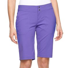 Women's Columbia Zephyr Heights Bermuda Shorts, Size: 16, Blue Other