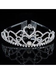 Alloy with Rhinestones and Zircons Wedding Bridal Tiara