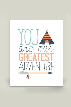 """""""You are our Greatest Adventure"""" nursery wall print by Artist ZoomBooneCreations on BoomBoom Prints"""