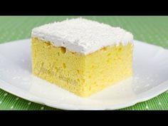 Prajitura tres leches – reteta video via Tres Chocolates, Americas Test Kitchen, Vanilla Cake, Good Food, Goodies, Sweets, Desserts, Mai, Tutorials
