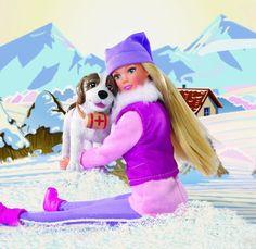 Steffi Love 105730931 - Winter Walk, Steffi mit Rettungshund Bernhardiner