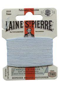 Carte Laine Saint-Pierre pour broder / repriser n°740 Azur