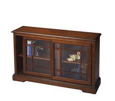 Masterpiece Wharton Antique Cherry Bookcase Console