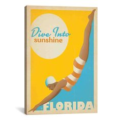 <li>Artist:N/A</li> <li>Title:Dive into Sunshine - Florida  by Anderson Design Group Canvas Print Wall Art</li> <li>Product Type: Gallery wrapped canvas art</li>