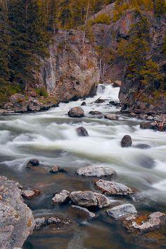 Firehole River cascade by photogg19, via Flickr