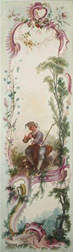 Jacques De LaJoue attributed To  Seven Decorative Panels Mounted In A Screen  Shepherds Song C 173040 Oil Painting 10x34 Inch  25x87 Cm printed On Perfect Effect Canvas this Best Price Art Decorative Prints On Canvas Is Perfectly Suitalbe For Garage Gallery Art And Home Decor And Gifts