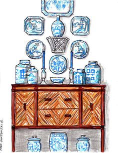 Step-by-step instructions for hanging plates like a pro... I'm SO on this with my collection of blue and white.