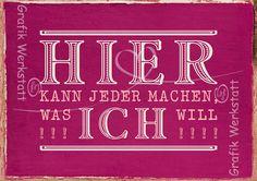 Hier kann jeder - Postkarten - Grafik Werkstatt Bielefeld