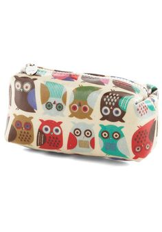Winsome Whimsy Makeup Bag ~:~ Vintage/ Mod Retro Look [from ModCloth.com] We Love Owls ~:<3