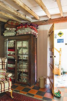 Great article from Period Living; transforming a welsh cottage. I like the cabinet for storing Welsh throws and blankets.
