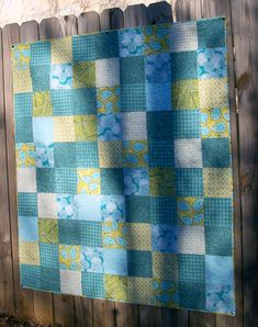 Lap Quilt Chartreuse Green Teal Blue Paisley by atthebrightspot,