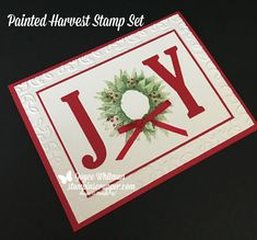 I have used the Painted Harvest stamp set from Stampin' Up! for so many fall projects.  Now I am using it to make Christmas handmade cards.  Don't you love how versatile this stamp set is?!