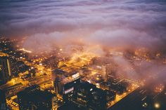 Chicago in the Fog by Michael Salisbury