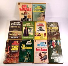 LOT of 10 John D. McDonald Paperbacks