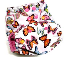 BUTTERFLIES PUL ONE SIZE POCKET CLOTH DIAPER 12-35+LBS