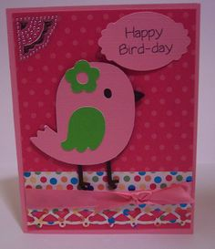 Create a Critter - Bird striped wrapper black base dark pink body yellow, green or light pink heart/flower