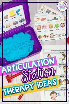 Use articulation centers to help keep your students engaged with their articulation practice and help increase productions in speech therapy. Articulation Therapy, Articulation Activities, Speech Therapy Activities, Speech Pathology, Speech Language Pathology, Speech And Language, Play Therapy Techniques, Speech Room, Social Thinking
