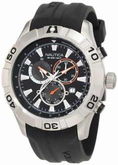Nautica Men's N18625G J-80 / NST 550  Watch NAUTICA. $115.00. Quartz movement. Water resistant to 330 ft. Stainless steel case. Durable mineral crystal protects watch from scratches. 47 mm. Save 38%!