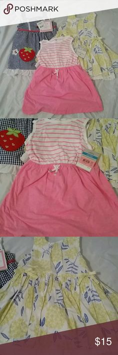 24 Month Dress Bundle (Yellow Dress is 2T) Two are new with tags other is in excellent condition. All 24 months. Dresses