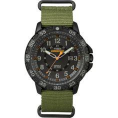 Timex Expedition Rugged Resin Slip-Thru Watch - Black/Green