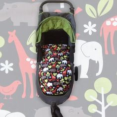 @pramskins posted to Instagram: Zoology Black snuggle bag custom made to fit Baby Jogger City Mini GT. Perfect for the upcoming cool season and looks great with the grey & green hood pram 🐘🦒🖤 #pramskins #babyjoggercityminigt #cityminigtfootmuff #itsamumslife#mumsupportingmums #animalsprint #comfycopramliners #pram #prams #pramlife #cleanpram #footmuff #pramaccessories #babyshowergift #babythings #strolleraccessories #babyessentials #babystuff #babymusthaves #newmum # City Mini Gt, Pram Liners, Baby Jogger, New Mums, Prams, Zoology, Custom Bags, Baby Essentials, Vera Bradley Backpack
