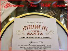 Afternoon Tea With Santa at the Grand America Hotel - Purple Chocolat Home