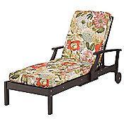 """Chaise Cushion-Box Edge 72""""x21""""x3-1/2"""" - Terrace Floral Print"""