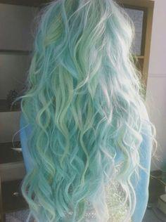 BubbleGothPrincess' Photos from the gallery 25 Gorgeous Mermaid Hair Color Ideas - Buzznet Cute Hair Colors, Hair Dye Colors, Cool Hair Color, Twisted Hair, Coloured Hair, Mermaid Hair, Ombre Hair, Lilac Hair, Pastel Hair Dye