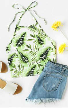 Leaf print makes you feel cool in summer.(20% Off Your First Order)