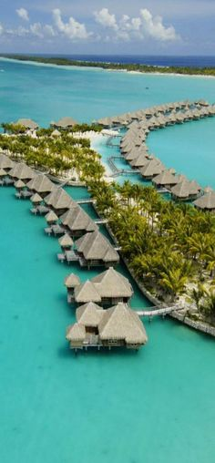 St. Regis Bora Bora. Couples Retreat was filmed here. Save your cash... Bora Bora is worth every penny it costs to get there! :)