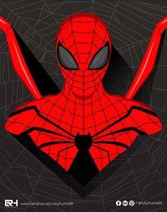 Spiderman Illustration - ADOBE ILLUSTRATOR By Ruby Huma on Behance Adobe Illustrator, Spiderman, Behance, Creative, Illustration, Fictional Characters, Art, Spider Man, Art Background