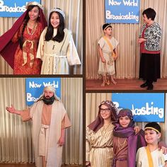 @happylabpups shares: My husband and I have the privilege of studying with a few young ones in our congregation from single-parent families. We invited them and their siblings to join us in our New World Broadcasting project. Each one of them chose a Bible character to research and portray. They chose Esther Ruth Hannah Abigail & David. Their costumes were made from old sheets and curtains. My husband even made a leather slingshot and pouch for David! I then interviewed them in the New…