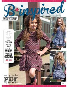 """Free PDF pattern from My Image Magazine.  Available in English, French, German, Dutch.  P1001 Girls Dress """"Scarlet"""""""
