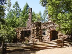 those romantic ruins of the wolf house at Jack London State Park in Glen Ellen