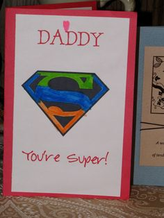 Father's Day Card...super hero theme