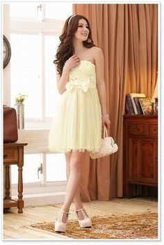 8583ed173b New Arrival Korea Bowknot Waisted Off Shoulder Dress Champagne