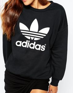 Image 3 ofadidas Originals Crew Neck Sweatshirt With Trefoil Logo