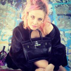 #me #instagirl #bag #birkin #hermes #fur #coat #pink #hair #pinkhair #bestoftheday #picoftheday #jj #instafashion #coolhunting #instagood #instamood #fashionista - @silvia_bertocchi- #webstagram