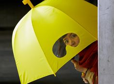 The Perfect Umbrella, you will never run into anyone again :) This is a great solution to a common problem.