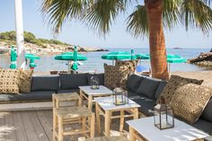 A tiny paradisiacal cove surrounded by rocky cliffs, lush green foliage and views of the Mediterranean Sea, S'Estanyol is a fiercely guarded local's secret, and the home of hip new Ibiza beach restaurant, Cala Bonita.