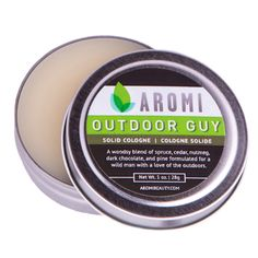 Ourdoor Guy Solid Cologne Woodsy cologne | men's gift | holiday gift for men |  http://www.aromibeauty.com/outdoor-guy-solid-cologne/