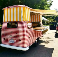 Stripes and Checks!  Picnic Truck