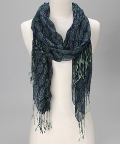 Take a look at this Teal Crete Scarf by rockflowerpaper on #zulily today!