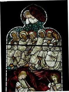East Window - Detail. St Michael & St Mary Magdalene Church, Easthampstead, Berkshire  by Edward Burne-Jones, Morris & Co., 1914