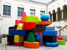 MVRDV's Vertical Village Collection on show at the National Museum of Finland as part of Helsinki Design Week