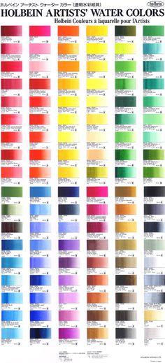 holbein joseph zbukvic's color using Watercolor Mixing, Watercolor Tips, Watercolour Tutorials, Watercolor Techniques, Art Techniques, Watercolour Painting, Watercolors, Paint Charts, Color Studies