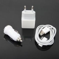 USB Car Charger + Wall Power Adapter for iPhone, iPod