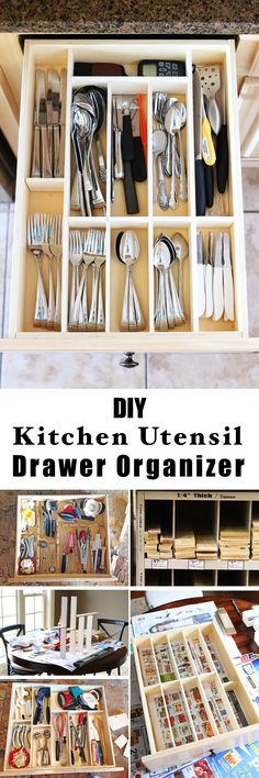 DIY Kitchen Utensil Drawer Organizer